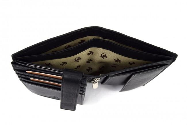 504a90ba75 Portafoglio Sauvage RFID Nero - SAW7005 Pelletteria accessori