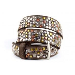 Cintura Borchiata Testa Moro - BFW694 - 3 cm