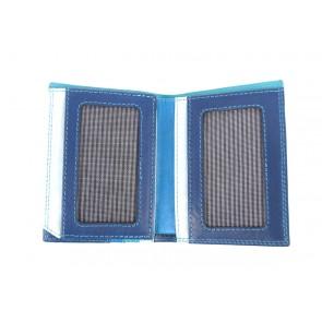 Portafoglio blu da tasca piccolo