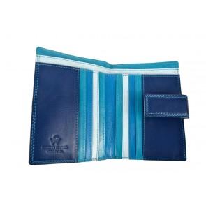 Portafoglio donna multicolore blu