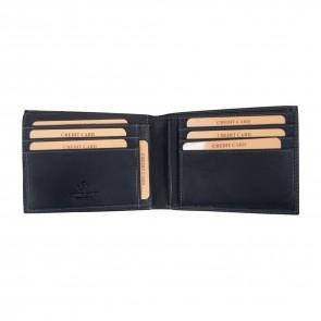 Portafoglio Pelle Invecchiata Nero - RW5039