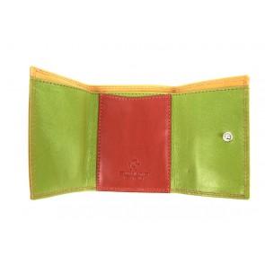portafoglio piccolo da tasca multicolore rosso