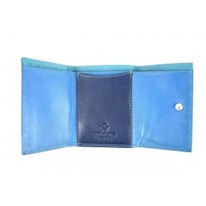 portafoglio piccolo da tasca multicolore blu