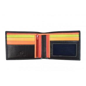 portafoglio multicolore nero