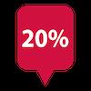 sconto del 20%